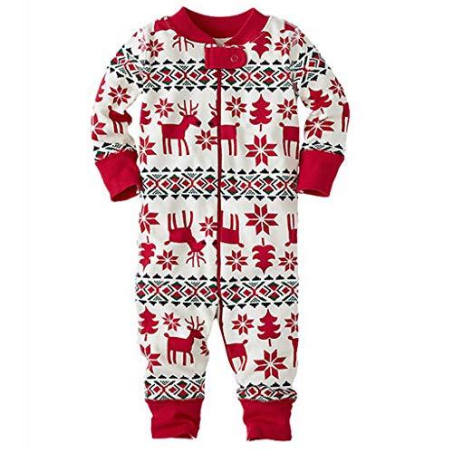 Jiamins Winter Schneeflocke Elch Familie Weihnachtskleidung, Baby Kinder Mutter Vati 4 Größe (Baby 6M)