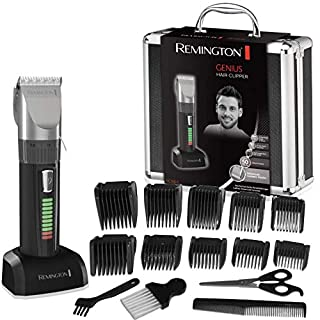 Remington Genius HC5810 - Máquina de Cortar Pelo, Cuchillas de Cerámica, Recargable, 10 Peines, Prestaciones Profesionales, Color Negro (B003WOKJLQ) | Amazon price tracker / tracking, Amazon price history charts, Amazon price watches, Amazon price drop alerts