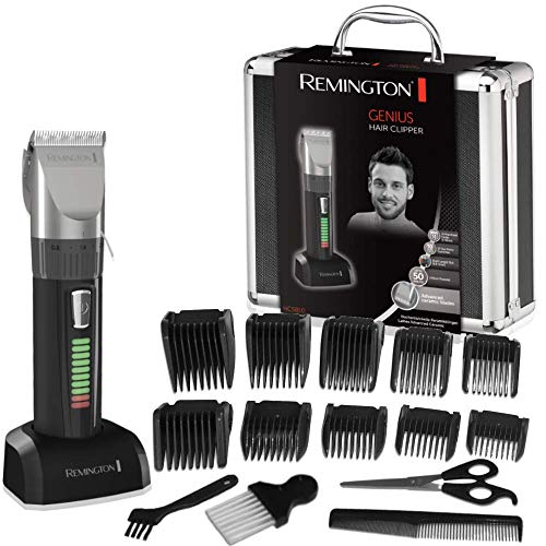 Remington HC5810 Pro Advanced Ceramic - Cortapelos profesional, indicador LED, 40 minutos de autonomía, incluye 10 peines