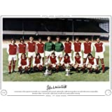 HAND SIGNED LIMITED EDITION PHOTO ARSENAL 1971 FRANK McLINTOCK