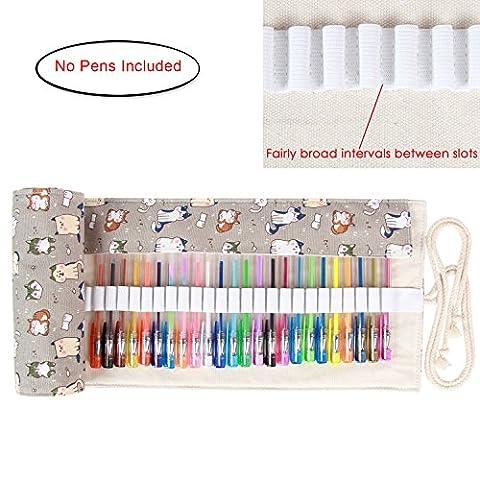 Damero Canvas Wrap for 48 Gel Pens, Gel Colored Pens