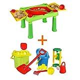 Diverse Marken Keter Kinder Spieltisch Sand & Water + Sandspielzeug Sandkasten Set 11 Teile