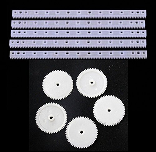 chengyida 10Kunststoff Gear und Gear Rack Rod Kit-(5gear + 5rack Rod) -