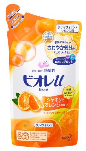 Biore U Orange Scented Bodywash - Refill 400ml [Health and Beauty]