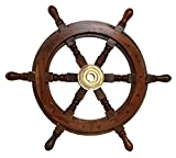 Schiffssteuerrad 48cm Schiffsrad Steuerrad Schiff Schiffe Boot Holz Antik-Stil