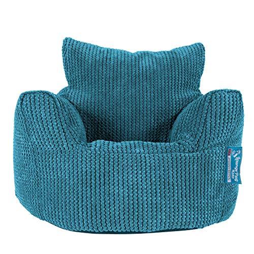 Lounge Pug®, Puff Sillón para niños, Pompón - Egeo Azul