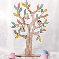 Descrizione del prodotto:   Questo albero di Pasqua robusto e bello renderà ogni ambiente un piacere per gli occhi, il legno naturale lavorato, dipinto con colori tenui e gufi pendenti per dare agli oggetti dimensioni e divertimento. Altre p...
