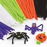 Halloween Pfeifenreiniger - Pfeifenputzer zum Basteln für Kinder