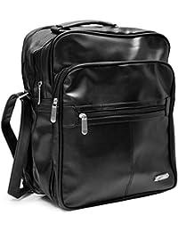 Herren Arbeitstasche Flugbegleiter Businesstasche - Handwerkertasche Schwarz Handwerker Tasche Umhängetasche Reisetasche Flugtasche Schultertasche