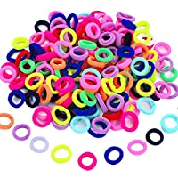 100 Pieces Elastic Hair Ties Mini Hair Bands Tiny Rubber Bands Colored Girls Ponytail Holders for Baby Kids