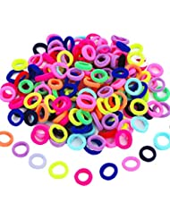 100 Pièces Liens de Cheveux Élastiques Mini Chouchous Bandes de Caoutchouc Minuscules Coloré Filles Porte-Queue de Cheval pour Bébé Enfants