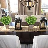 MIHOUNION 4 Bündel Künstliche Pflanzen Gefälschte Künstliche Sträucher Blumenstrauß Evergreen Sträucher für den Tisch Hochzeit Jeder zimmer Blumengestecke Deko - 3