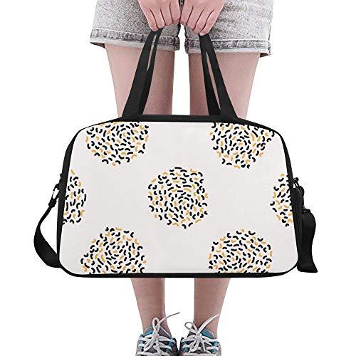 Moderne geometrische Leopard Haut Punkt Gewohnheit große Turnhalle Totes Eignung Handtaschen Reise Seesäcke mit Schultergurt Schuhbeutel für Übung Sport Gepäck für die Frauen der Frauen im Freien -