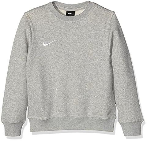 Nike Kids Team Club Crew Sweatshirt - Grey Heather/Grey Heather/Football White, Small