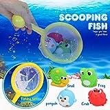 LOORI Baby Bath Toys,11 PCS Baby Shower Toys With 4 Fish,2 Fishing Rod,Crab,Frog,Snail,Fishing Net,Bird Perfect Christmas Birthday Gift For Baby & Kids
