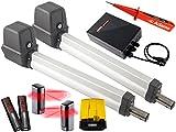 Sommer Twist 200E Drehtorantrieb 2-flüglig + 2 Stück 2 Befehl Handsender 4026 + Lichtschranken 7029 + Warnlicht 24V Set 5in1G