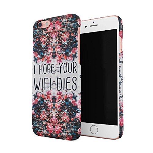 I Hope Your WiFi Dies Rosa Wild Blume Roses Blossom Dünne Rückschale aus Hartplastik für iPhone 6 & iPhone 6s Handy Hülle Schutzhülle Slim Fit Case cover (Rosa Paisley-snap)