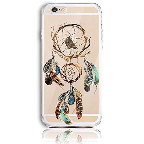 Coque iPhone 6s Plus, Coque iPhone 6 Plus (5.5) Transparent Etui Housse de Protection TPU Silicone Gel Souple Clair Crystal Case Cover Sunroyal® Ultra Mince Premium Telephone Portable Skin Hybrid Clea Motif 36