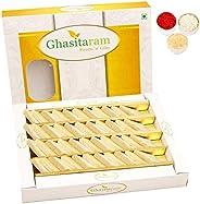 Ghasitaram Gifts Bhaidooj Gifts Sweets - Pure Kaju Katlis Box 200 GMS
