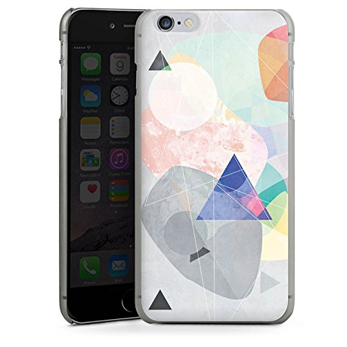 Apple iPhone X Silikon Hülle Case Schutzhülle Muster Design Dreieck Hard Case anthrazit-klar