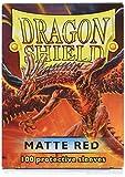 Dragon Shield Manchons standard Rouge mat - version anglaise