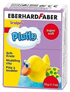 Eberhard Faber 571437-Super Soft plastilina pluffy, 32g, Color Lila