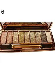 MSmask 9 couleurs EYESHADOW palette Glitter Set Brosse Femmes Filles Maquillage cosmétiques Beauté