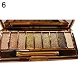 Msmask 9 colori di scintillio Eyeshadow Palette Brush Set giornaliere Donne Ragazze Makeup Cosmetic Beauty immagine