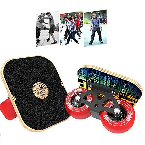 CHHBOXCHH Driftboard ,Drop-Through Freeride Skaten Cruiser Boards,Mini Cruiser Board Skateboard ,Komplettboard,FüR Kinder, Jugendliche Und Erwachsene,Red -
