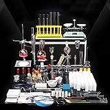 LEDMLSH Laborgeräte Destillationsgeräte Wasserfilter Chemisches Experiment Glasgeschirr Kit Toolbox Kondensatorschale Balance