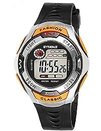 Kids Sport Watch 164 Feet Waterproof LED Digital Watch for Boys Orange