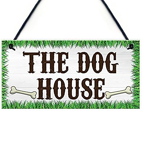 Red Ocean The Dog House Novelty Hanging Plaque Garden Shed Gate Sign Kennel Bed Man Cave Plaque