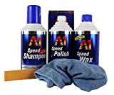 DR. WACK A1 Speed Polish & Speed Wax Plus 3 & Speed Shampoo & Mikrofasertuch