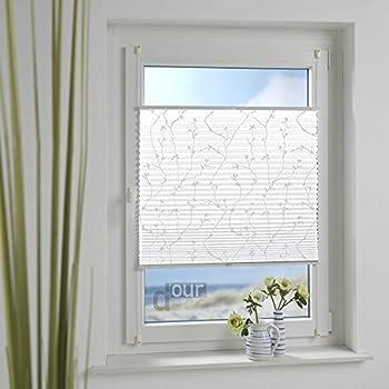 homelia klemmfix plissee mit klemmtr ger stoff bedruckt mit blumenmotiv verspannt ohne. Black Bedroom Furniture Sets. Home Design Ideas