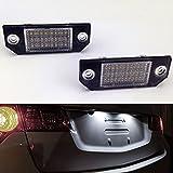 THG (2 Stück) 3W Kennzeichenbeleuchtung Nummernschilder Licht, Auto LED Nummernschilder Lampe (3528 24SMD)