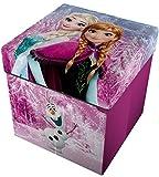 Star Licensing Disney Frozen Pouf Contenitore con Cuscino,, 32x32x32 cm