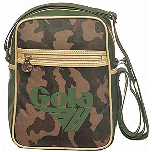 Gola Mini Bronson Camo CUB107, Borsello a Tracolla Unisex (Forest Green/Cream, 28x21x6) Forest Green/Cream
