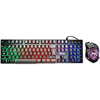 PACK Teclado QWERTY + Ratón Gaming Retroiluminado Led ( 4 colores ) - Mecanic Feeling MTEK K3423