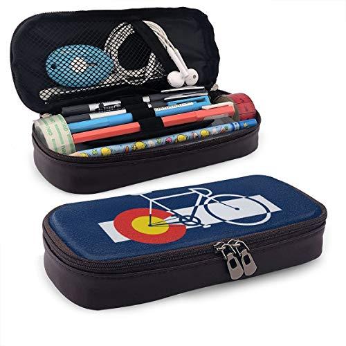 Iop 90p Colorado Fahne und Fahrrad Aufbewahrungstasche Geldbörse Organizer Kosmetiktasche Reisetaschen, PU, Schwarz, Einheitsgröße -