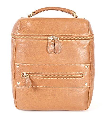 Rl 663 Brun Clair Londres en cuir véritable Sac à dos – Oxbridge Petit sac à main Fashion