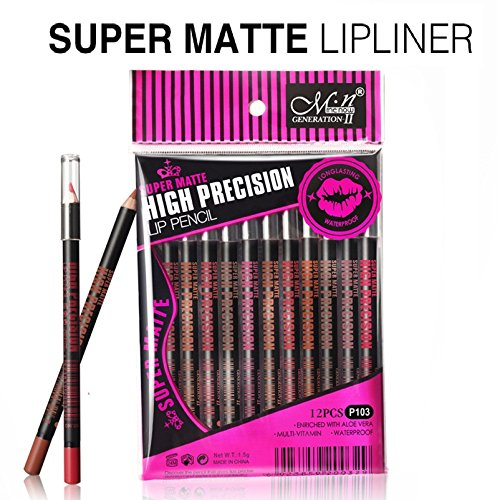 Glamdoll Menow Waterproof Super Matte Lipliner Set