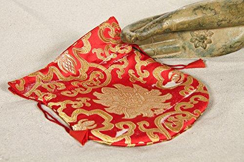 Mala Tasche Brokat Lotus rot, ca. 19x16 cm (Brokat Tasche Rot)