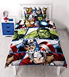Character World DMASHEDS003UK1 Marvel Avengers Shield Bettwäsche-Set, Mikrofaser, mehrfarbig, Einzelbett