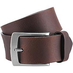 LINDENMANN- Cinturón de cuero para hombre , xxl, tamaño color marrón oscuro, 393, tamaño: 85