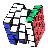 Shengshou 4x4x4 Smooth pegatinas cubo de Rubik velocidad del rompecabezas del cubo Negro | Dingze (Negro)