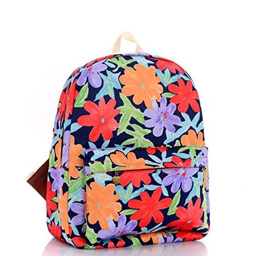 Borse di stampa variopinte di fiori di stampa floreali del sacchetto dello zaino dello zaino di stampa Fiori colorati di stampa