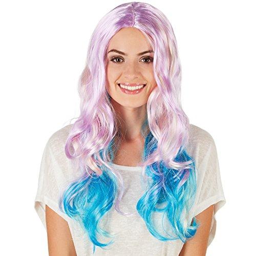 TecTake dressforfun Frauenperücke Fashion Pastell | Wundervolles, gestuftes Haar | Extra langes Kunsthaar