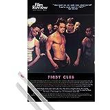 Poster + Hanger: Fight Club Poster (91x61 cm) Brad Pitt, Film Review Collection (Fight Scene) Inklusive Ein Paar 1art1® Posterleisten, Transparent