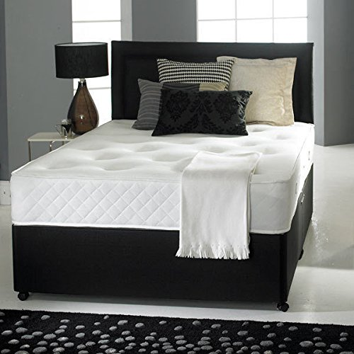 Divan bed with ortho mattress headboard and 2 drawers for Cheap divans with drawers