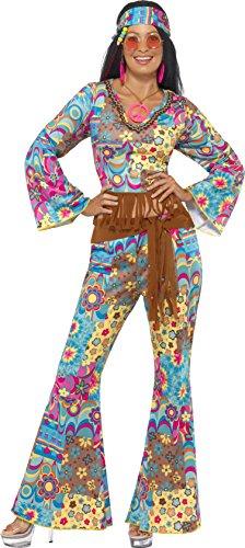 r Power Hippie Kostüm, Oberteil, Hose, Haarband und Gürtel, Größe: S, 39493 (70er Jahre Gürtel)